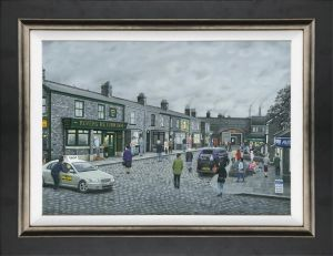 On The Cobbles - Board Framed