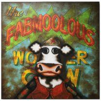 The Fabmoolous Wonder Cow - Canvas