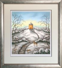 When Snow Falls, Nature Listens - Framed
